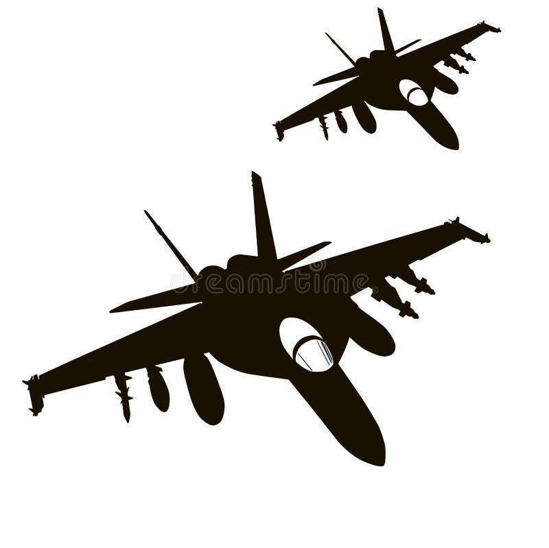 Luftangriff Vektor vektor abbildung