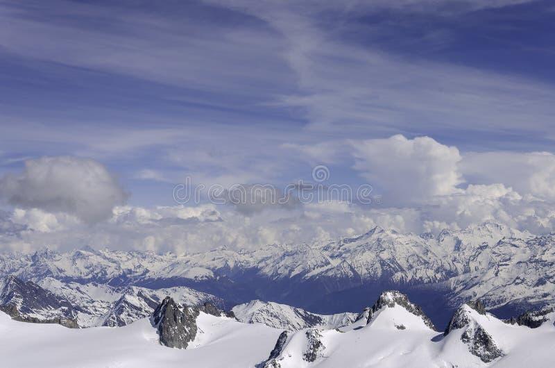 Luftansicht Chamonix MONT BLANC Berg lizenzfreie stockfotografie
