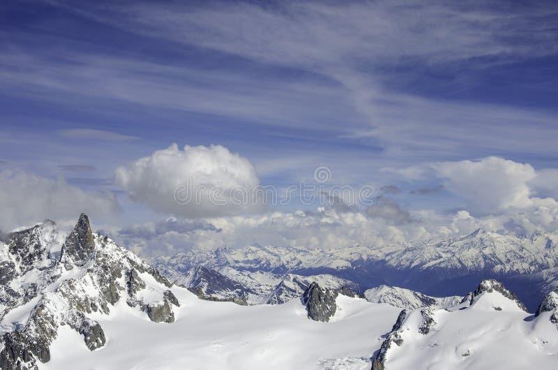 Luftansicht Chamonix MONT BLANC Berg lizenzfreie stockfotos