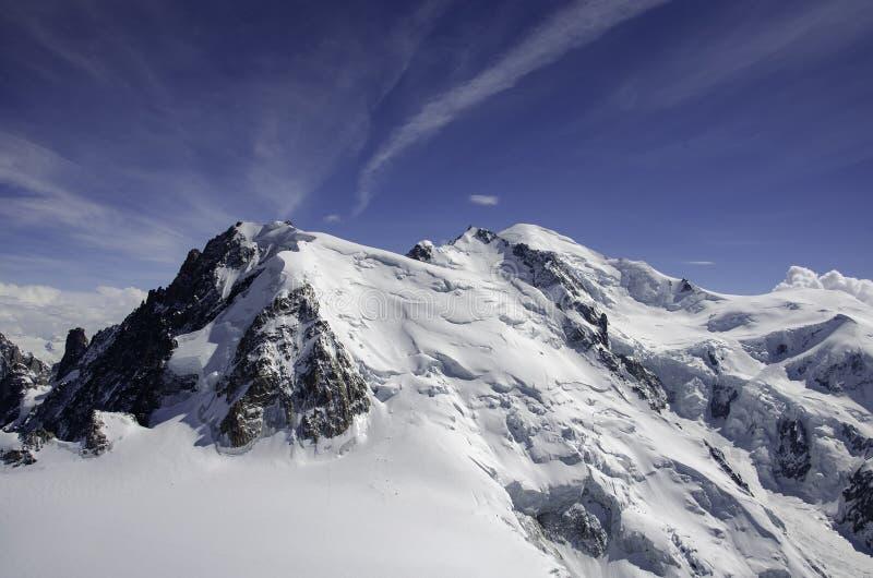 Luftansicht Chamonix MONT BLANC Berg stockfotografie