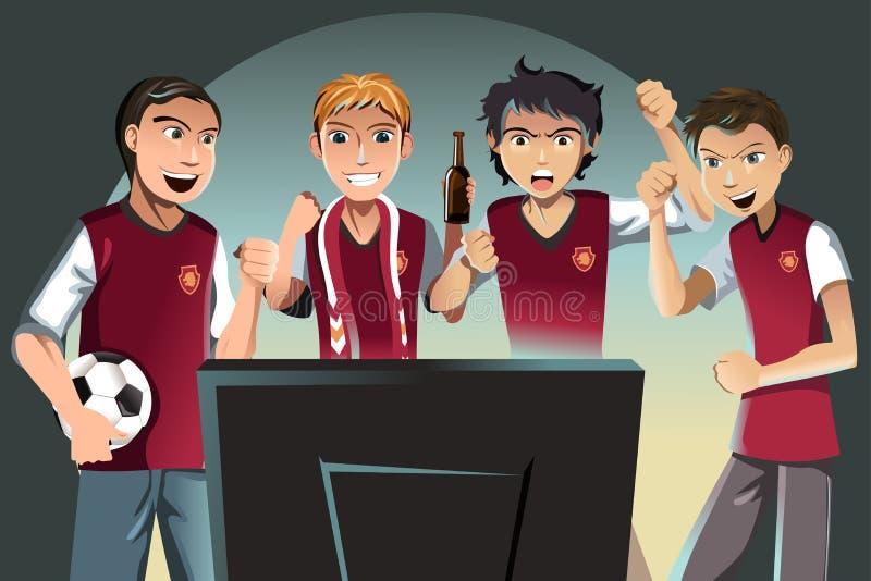 luftar fotboll vektor illustrationer