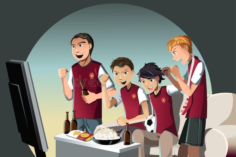 luftar fotboll stock illustrationer