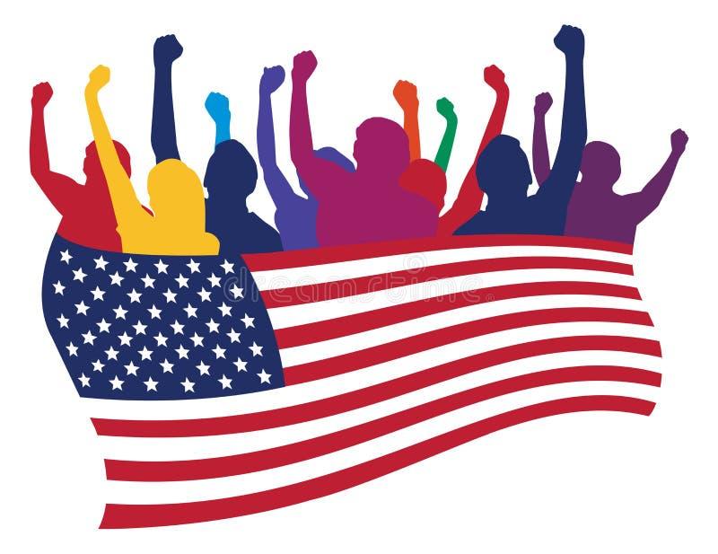 luftar illustrationen USA stock illustrationer