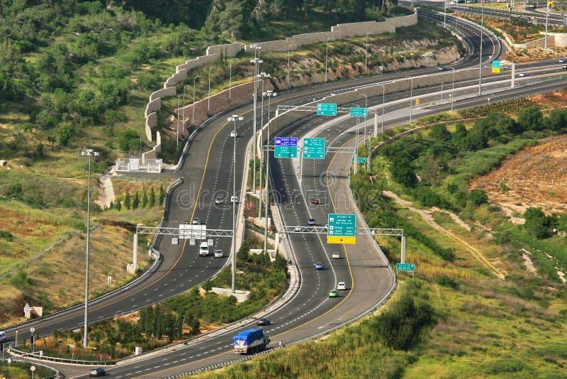 Luftaufnahme über Datenbahn. stockfoto