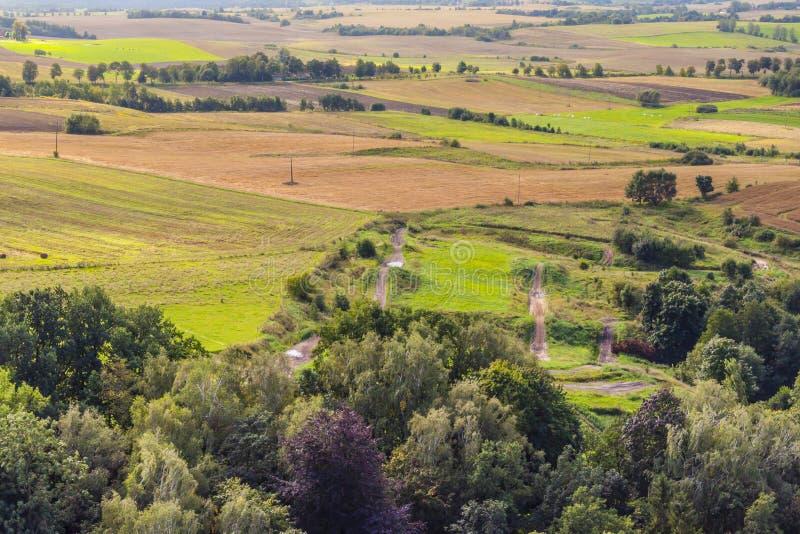 Luftaufnahme über ländliches lizenzfreie stockfotos