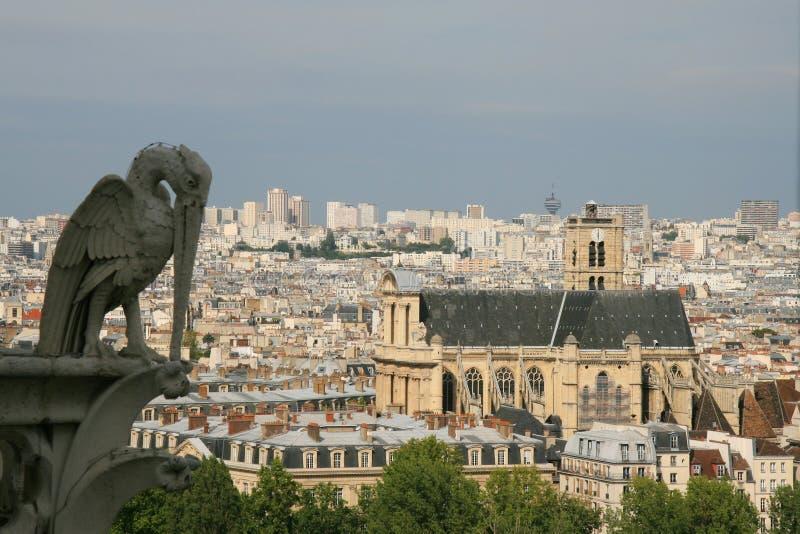 Luftaufnahme über Paris stockbild