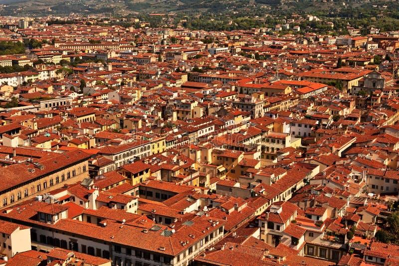 Luftaufnahme auf alte Stadt Florenz. lizenzfreies stockfoto