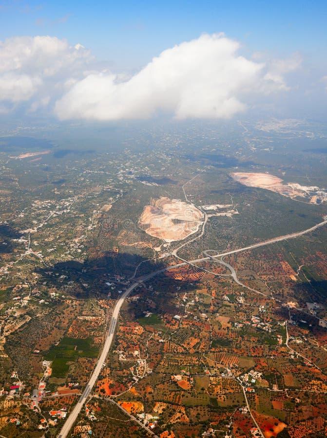 Luftaufnahme der Autobahn lizenzfreie stockbilder