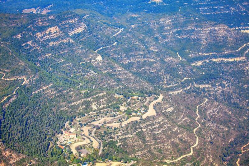 Luftaufnahme der Berge lizenzfreie stockfotos