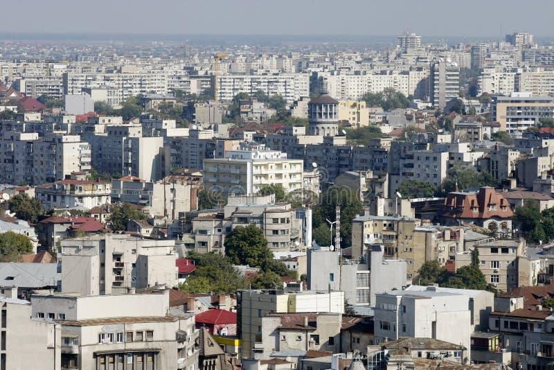 Luftaufnahme der Bucharest-Stadt lizenzfreie stockfotografie