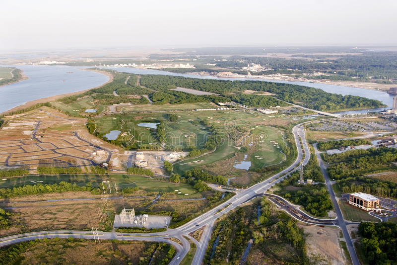 Luftaufnahme der Entwicklung stockbilder
