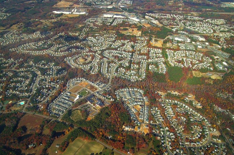Luftaufnahme der Häuser lizenzfreie stockfotos
