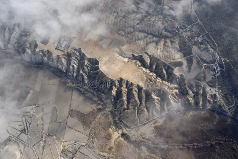 Luftaufnahme der spanischen Berge stockfotografie