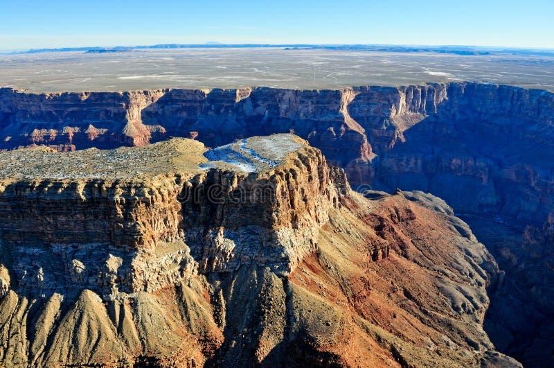 Luftaufnahme des Grand Canyon stockfotos