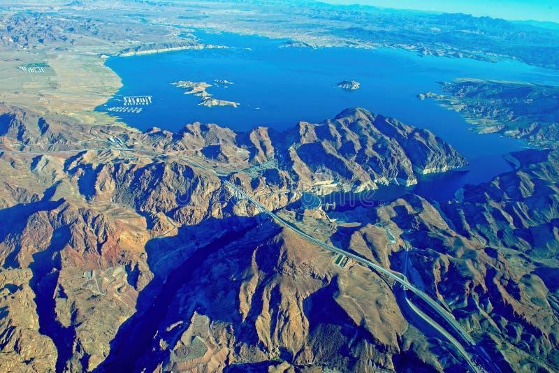 Luftaufnahme des Kolorado-Flusses stockfoto