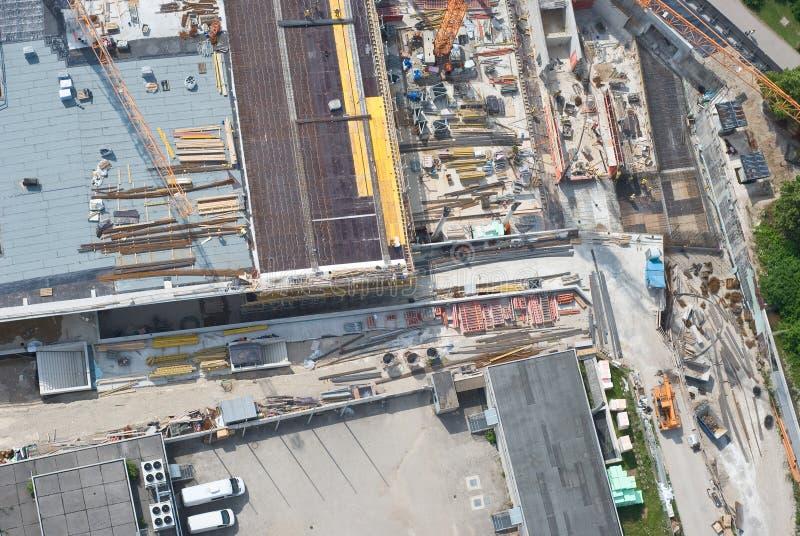 Luftaufnahme einer Baustelle lizenzfreie stockbilder
