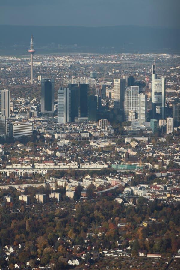 Luftaufnahme, Stadtzentrum der europäischen Stadt Frankfurt-am-Main, Deutschland stockbilder