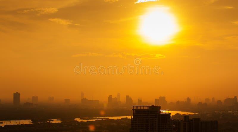 Luftaufnahme von Bangkok stockfoto