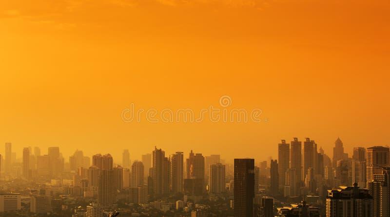 Luftaufnahme von Bangkok stockfotografie