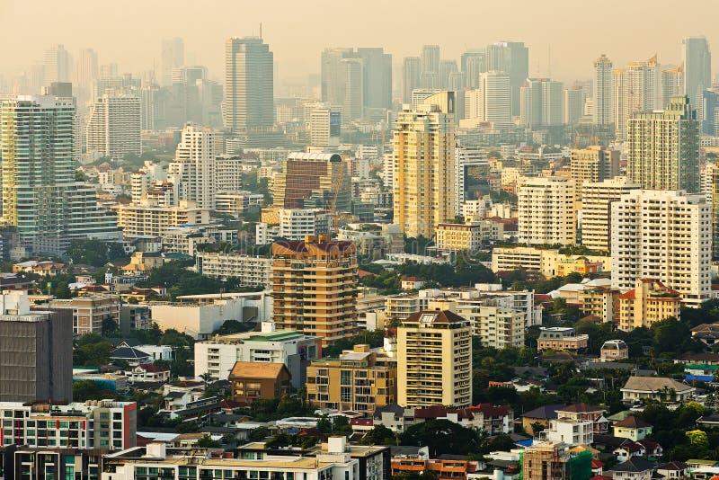 Luftaufnahme von Bangkok stockfotos