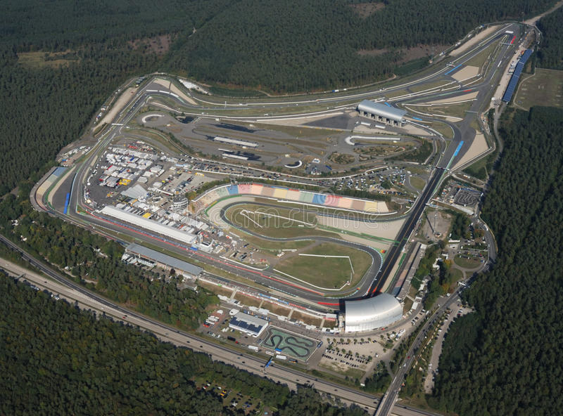 Luftaufnahme von Hockenheimring, Deutschland lizenzfreie stockfotografie