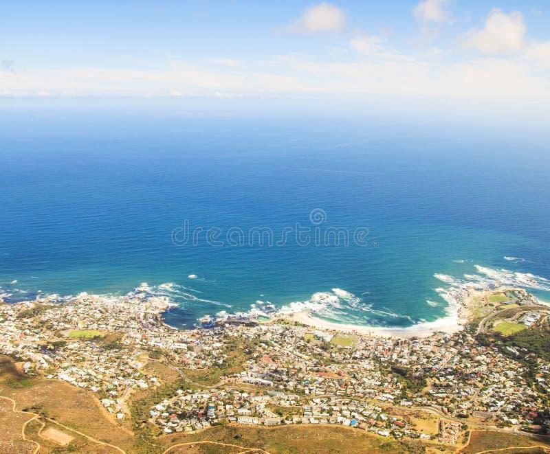 Luftaufnahme von Kapstadt stockfotografie