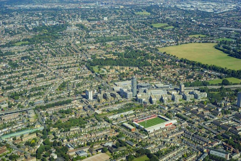 Luftaufnahme von London lizenzfreie stockfotografie