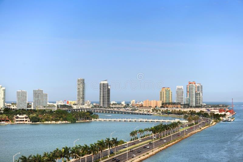 Luftaufnahme von Miami Beach lizenzfreie stockbilder