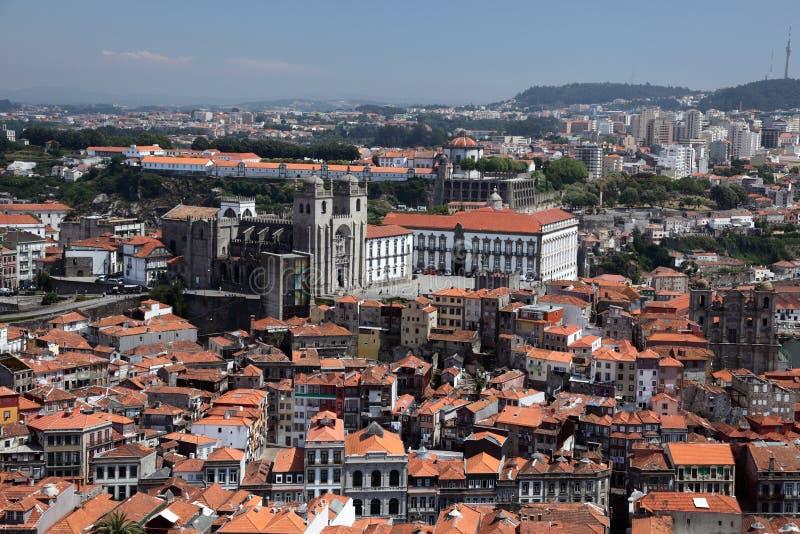 Luftaufnahme von Oporto, Portugal stockfotos