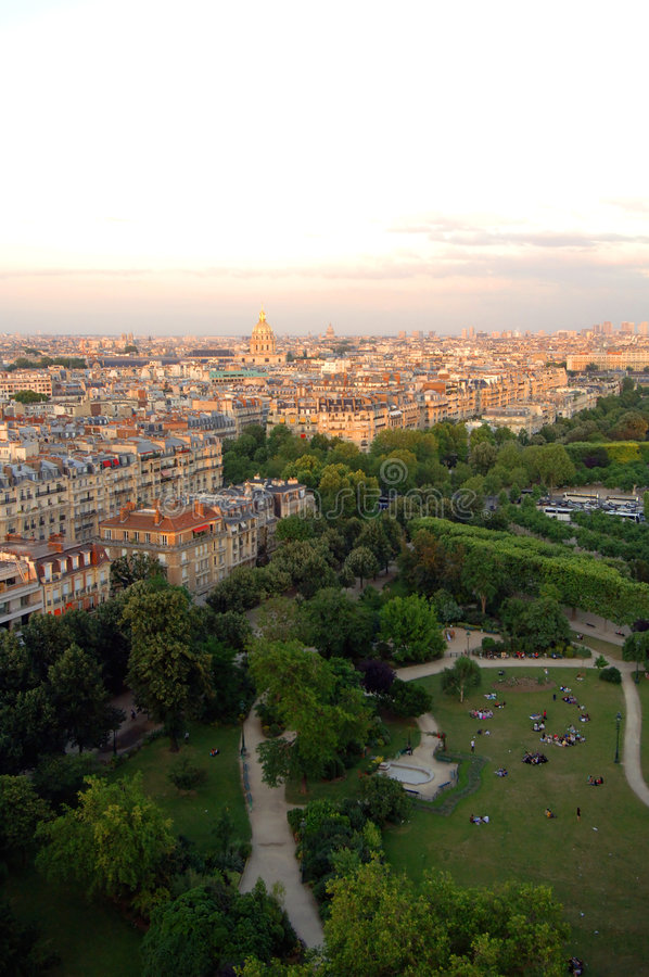 Luftaufnahme von Paris stockfoto