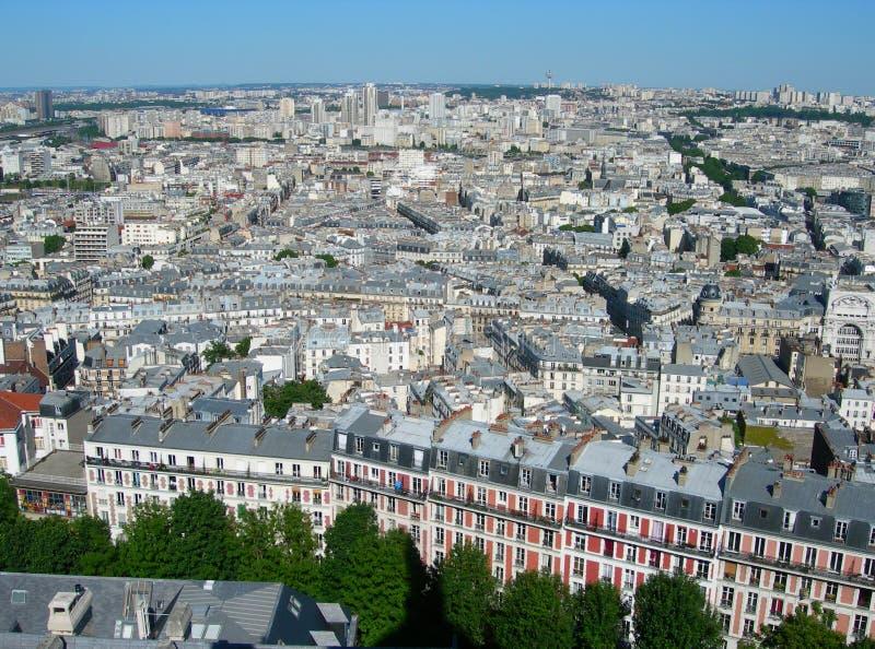 Luftaufnahme von Paris, Frankreich stockbild