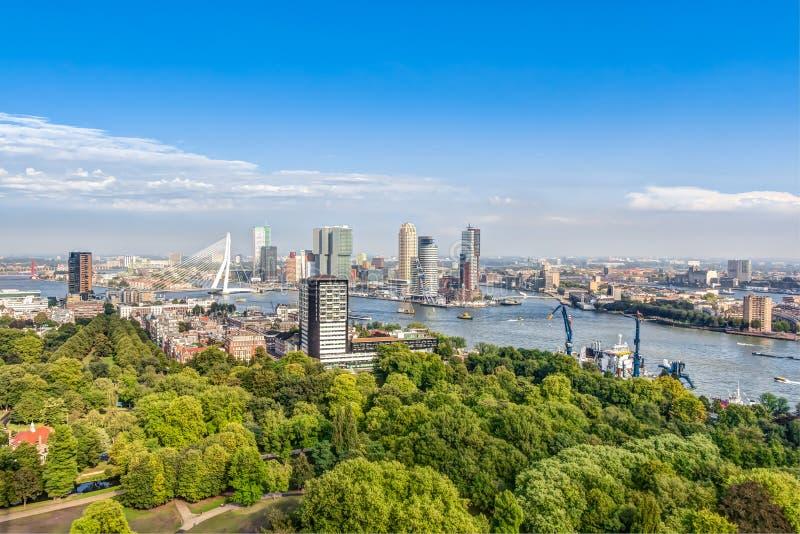 Luftaufnahme von Rotterdam lizenzfreies stockfoto