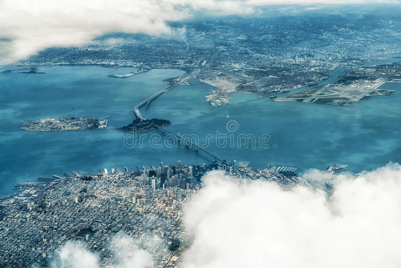 Luftaufnahme von San Francisco lizenzfreies stockbild