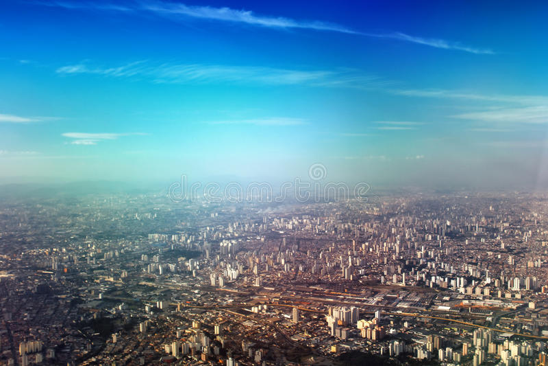 Luftaufnahme von Sao-Paulo lizenzfreie stockfotos