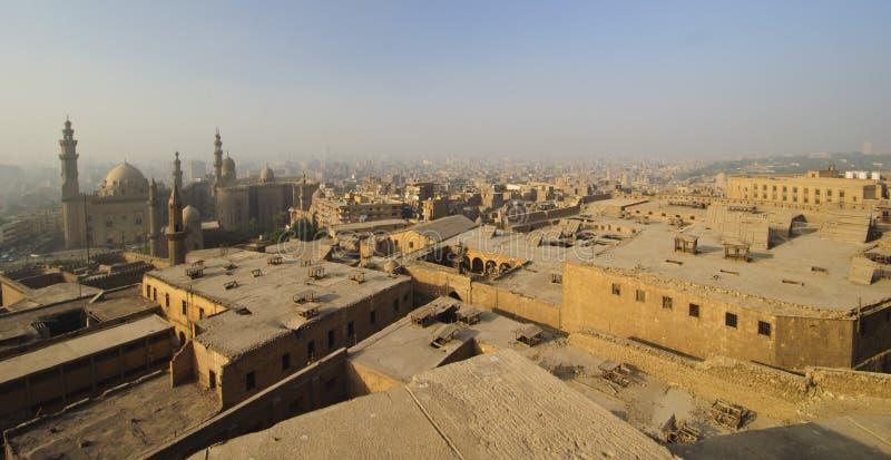 Luftaufnahme von smoggy Kairo, Ägypten lizenzfreie stockfotos
