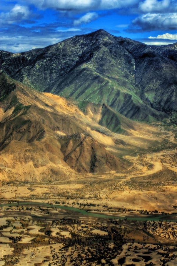 Luftaufnahme von Tibet stockfoto
