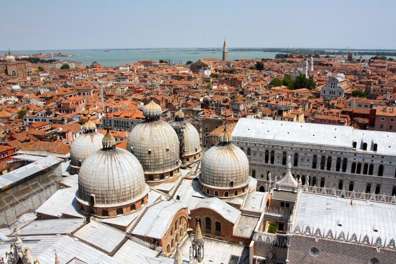 Luftaufnahme von Venedig, Italien stockbild