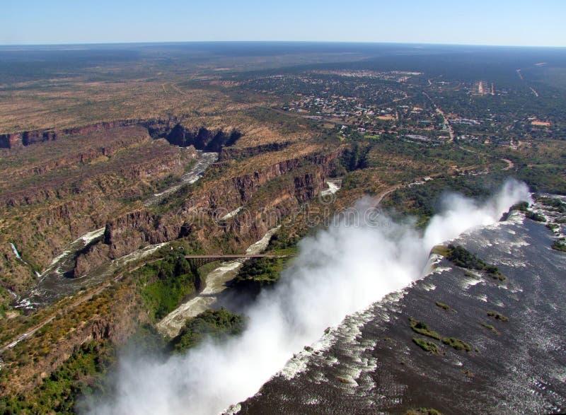 Luftaufnahme von Victoria Falls lizenzfreie stockfotos