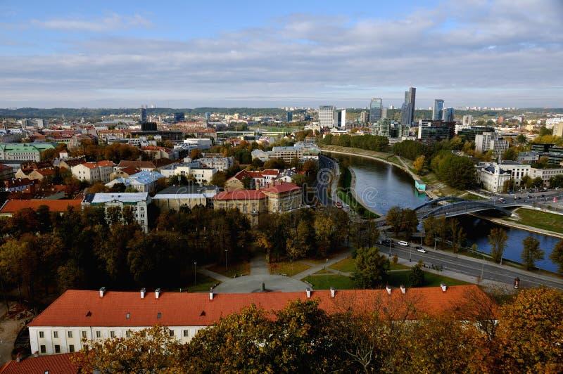 Luftaufnahme von Vilnius, Litauen stockbilder