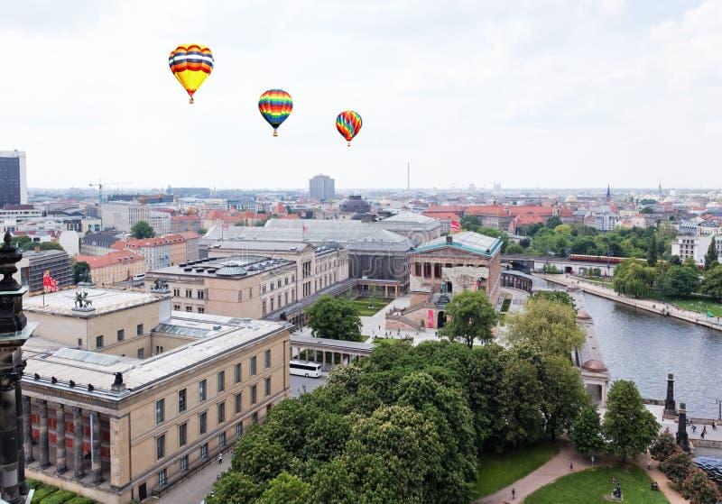 Luftaufnahme von zentralem Berlin lizenzfreie stockfotos