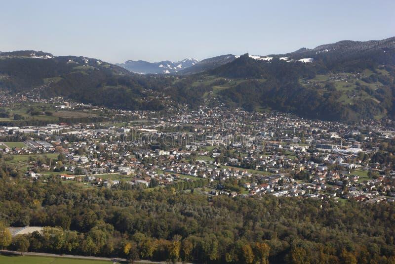 Luftaufnahme Vorarlberg Austria stock photography