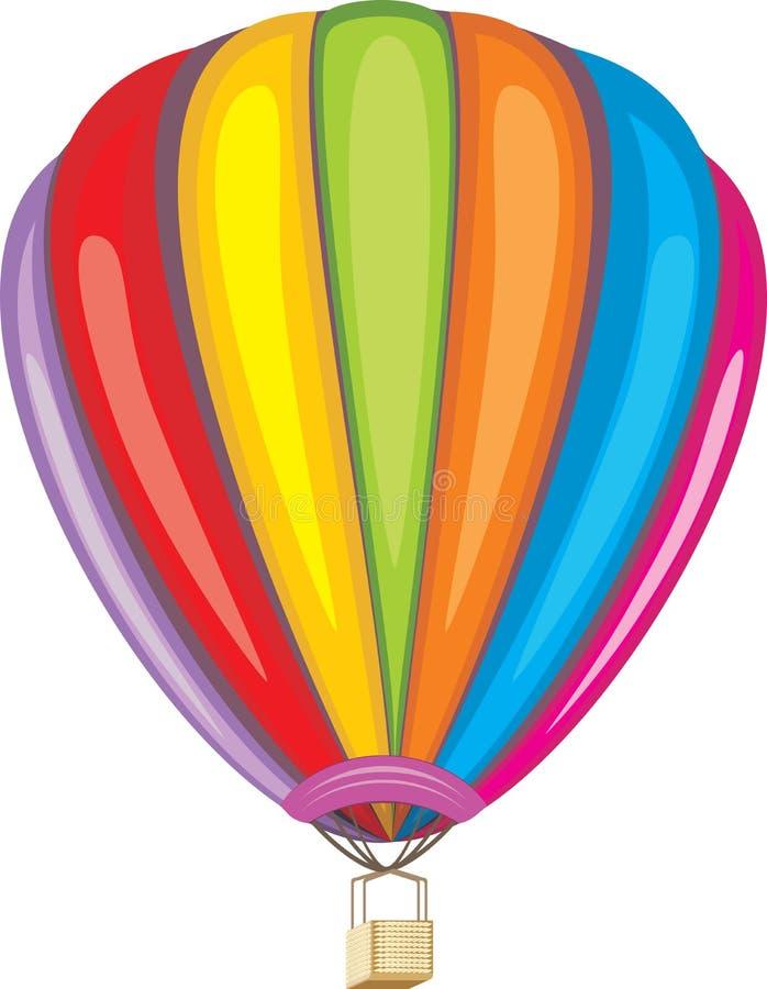 Luftballon lokalisiert auf dem Weiß vektor abbildung