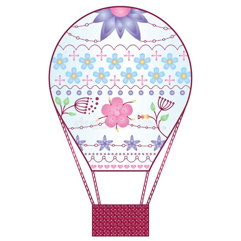 Luftballon-Steigungsblumen lizenzfreie abbildung