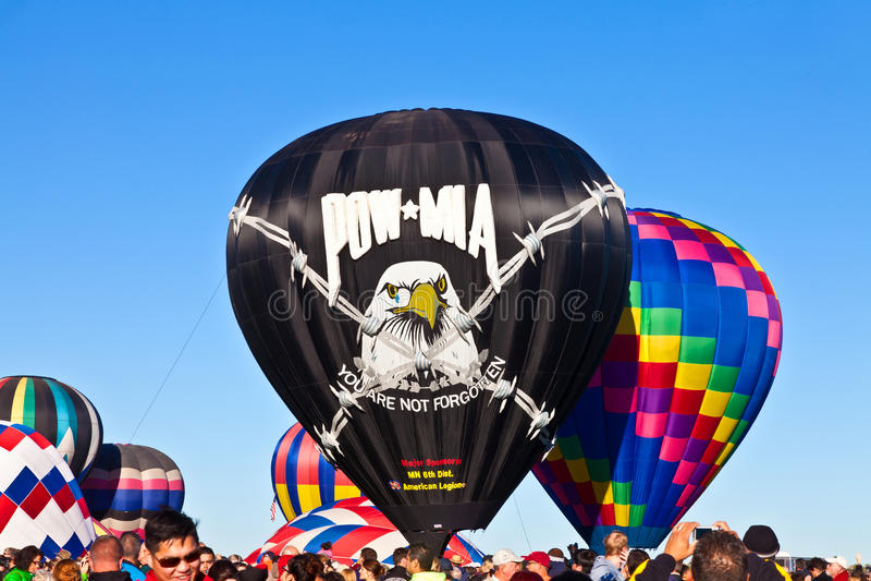 Luftballong för POW* MIA Hot arkivfoto