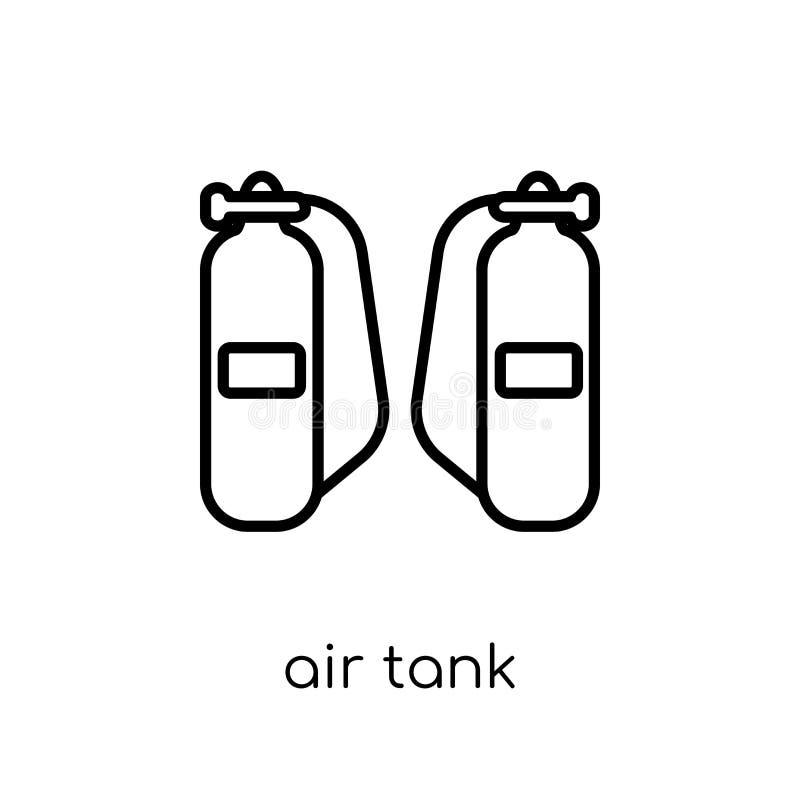 Luftbehållaresymbol Moderiktig modern plan linjär symbol för vektorluftbehållare på royaltyfri illustrationer