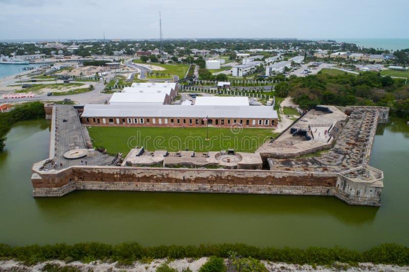 Luftbild des Forts Zachary State Park und nationale Marina Sanc stockbilder