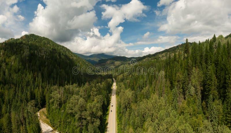 Luftbild des Innern British Columbia, Kanada stockbild