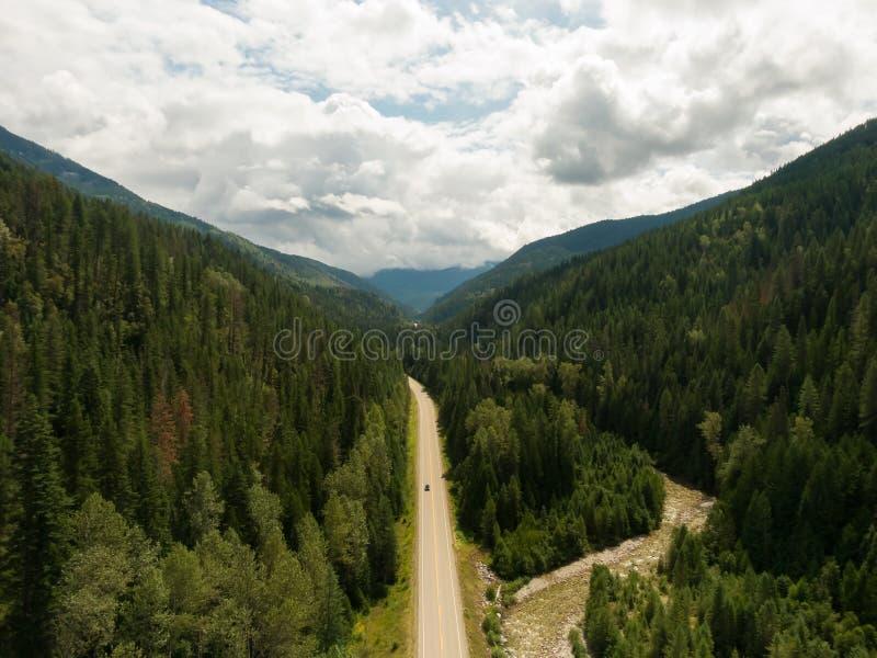 Luftbild des Innern British Columbia, Kanada lizenzfreies stockfoto