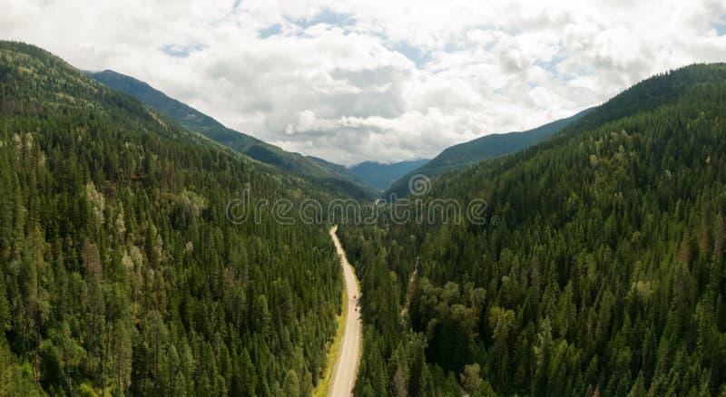 Luftbild des Innern British Columbia, Kanada stockbilder