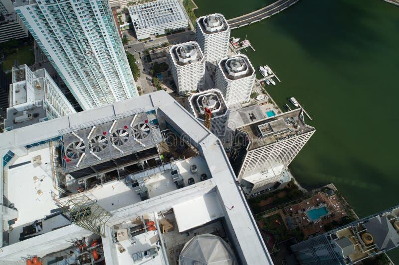 Luftbild des Panorama-Turms Brickell lizenzfreies stockbild